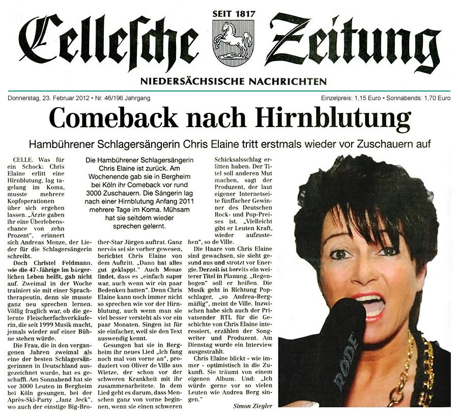 ... tritt erstmals wieder vor zuschauern auf cellesche zeitung 23 02 2012